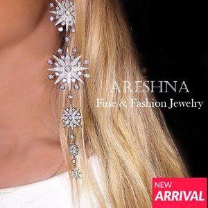 Snowflake Swarovski Crystals Dangle Earrings